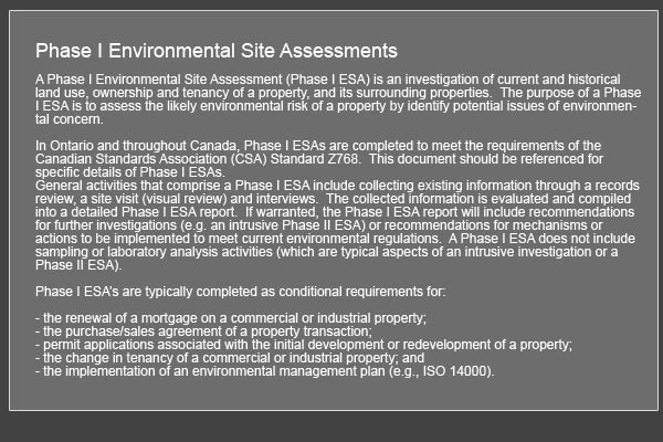 environmental assessment Ontario